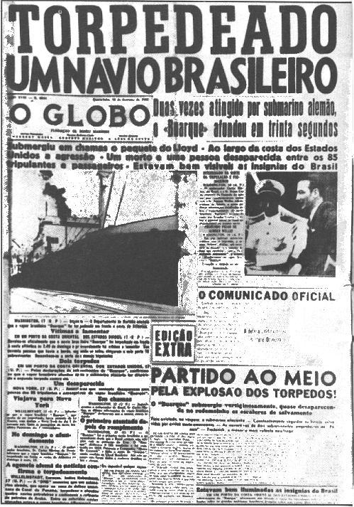 navio torpedeado Navio Brasileiro Torpedeado Por um Submarino Alemão na Primeira Guerra