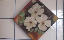 Painel com Lindas Flores Pintadas a Óleo – Crie o seu, Relaxe e Venda