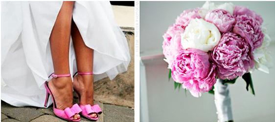 sapatos que combinam com buque casamento 2 Sapatos Coloridos que Combinam com o Buquê   a Nova Moda das Noivas