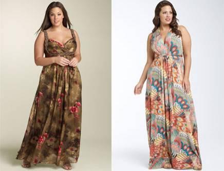 Fotos de vestidos longos para gordas e baixas