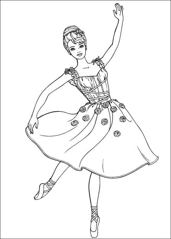 Barbie Bailarina Desenho Lindo Colorir Pintar Desenhos Para Colorir Da