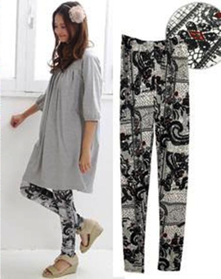leggings estampadas1 Leggings Estampadas Moda 2011: Lindos Modelos, Estampas para o Inverno