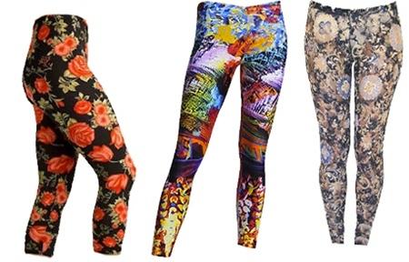ligging com estampa1 Leggings Estampadas Moda 2011: Lindos Modelos, Estampas para o Inverno