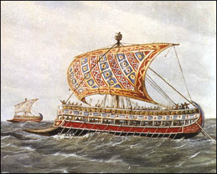 navio fenicio economia Fenícios Esquema para Estudos   Economia, Religião, Cultura