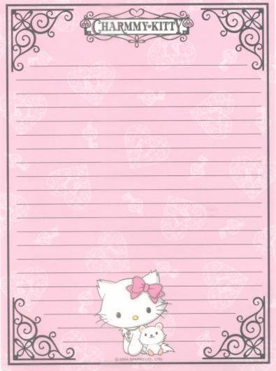 papel de carta lindo para imprimir Papéis de Carta para Imprimir   Lindos Modelos de Flores, Hello Kitty