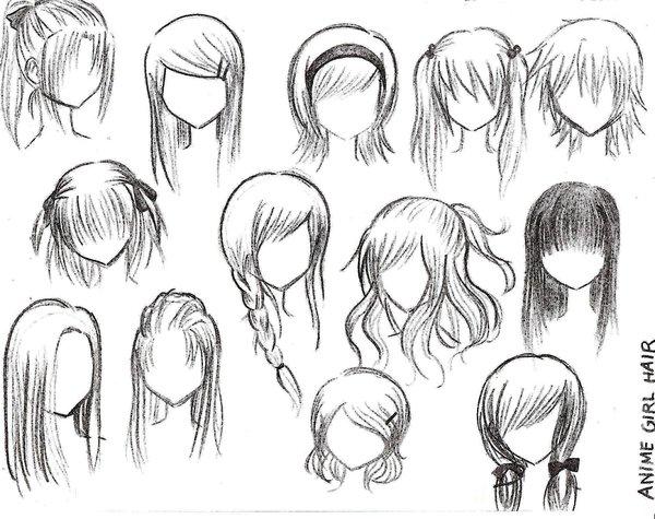cabelos femininos manga Mangá  Como Desenhar Rosto, Expressões Faciais e Cabelo: Passo a passo