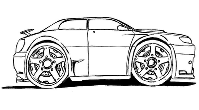carros para pintar Desenhos de Carros para Pintar   Melhores Modelos para Imprimir, Veja