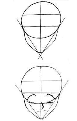 como desenhar manga rosto 2 Mangá  Como Desenhar Rosto, Expressões Faciais e Cabelo: Passo a passo
