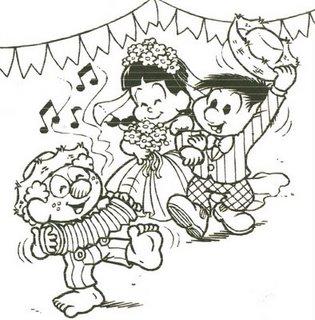 desenho para pintar festa junina Desenhos para Colorir de Festa Junina   Caipiras, Quadrilha, Bandeiras