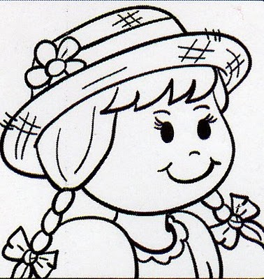 desenho pintar menina Desenhos para Colorir de Festa Junina   Caipiras, Quadrilha, Bandeiras