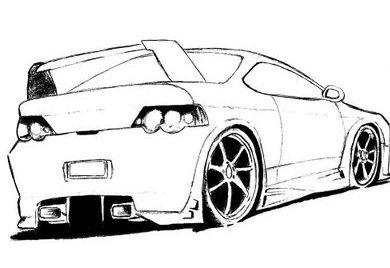 desenhos para colorir carros1 Desenhos de Carros para Pintar   Melhores Modelos para Imprimir, Veja