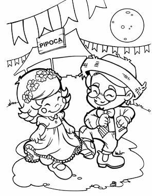 festa junina para colorir Desenhos para Colorir de Festa Junina   Caipiras, Quadrilha, Bandeiras