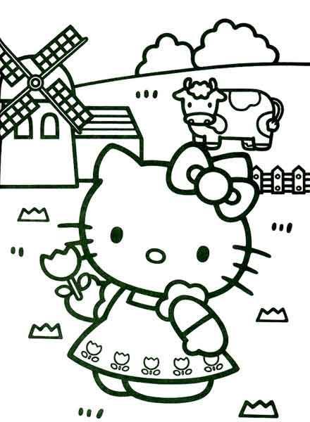 Desenhos Para Colorir Da Hello Kitty Lindos Modelos Para Imprimir