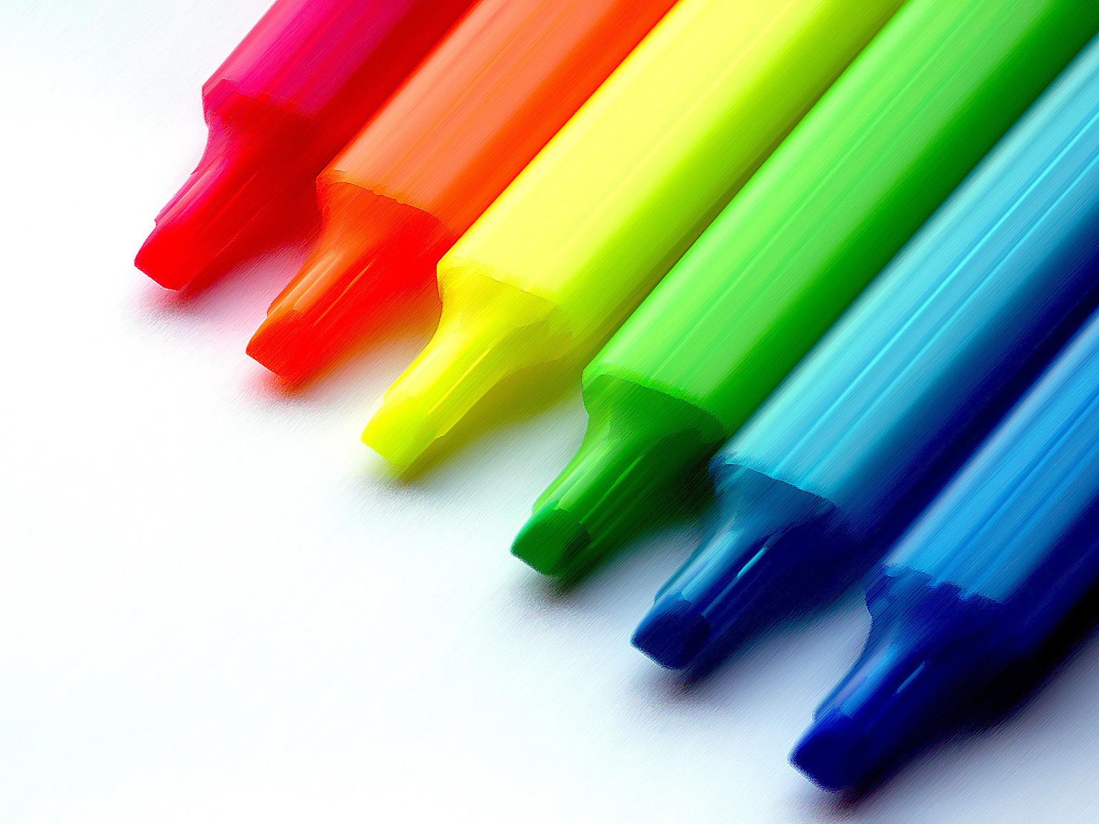lapis coloridos Lindas Fotos e Imagens Coloridas   Cores do Arco Íris e Objetos, Flor