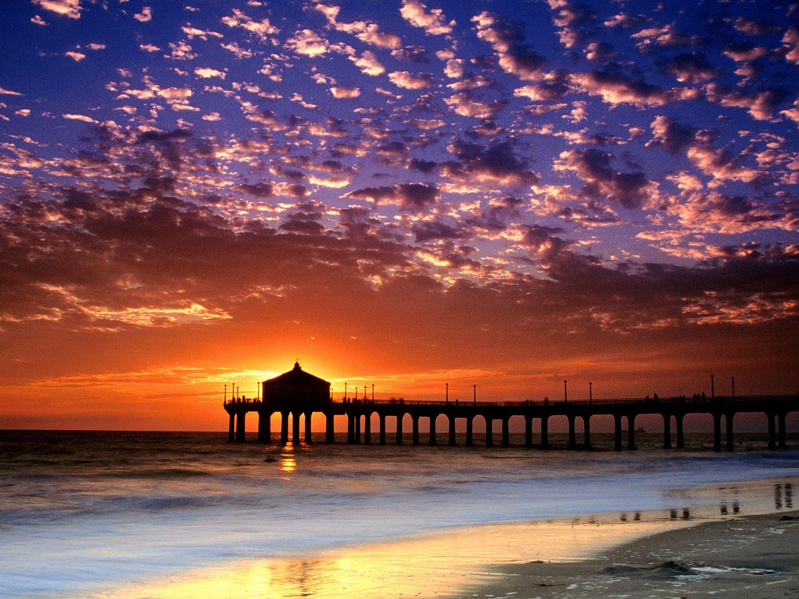 manhattan california Praias mais Bonitas do Mundo   Lindas Fotos com Nomes e País, Confira