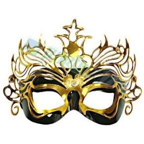 mascara preta com dourado Máscaras Venezianas para Bailes   Lindos Modelos e Lojas para Comprar