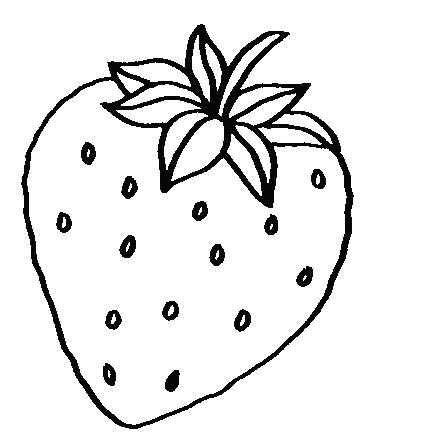 morango para pintar Lindos Desenhos de Frutas para Pintar: Modelos Perfeitos para Colorir