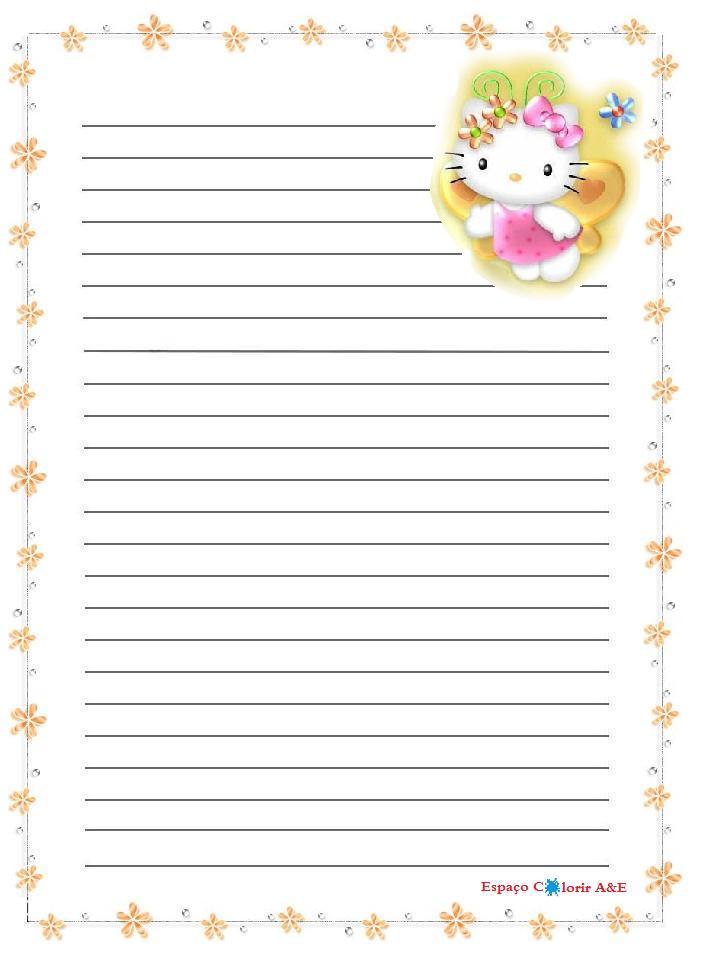 Pap  Is De Carta Da Hello Kitty Para Imprimir Lindos E Bem Coloridos