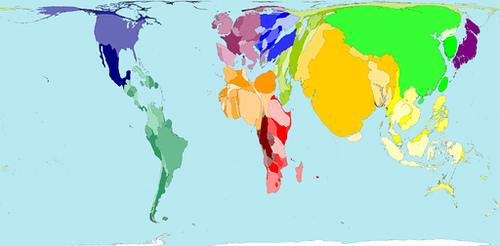 anamorfose geografica Cartografia Temática: Definição, Exemplos, Mapas, Anamorfose e mais