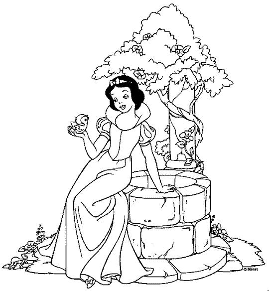 Desenho Da Princesa Branca De Neve Para Colorir | Auto Design Tech