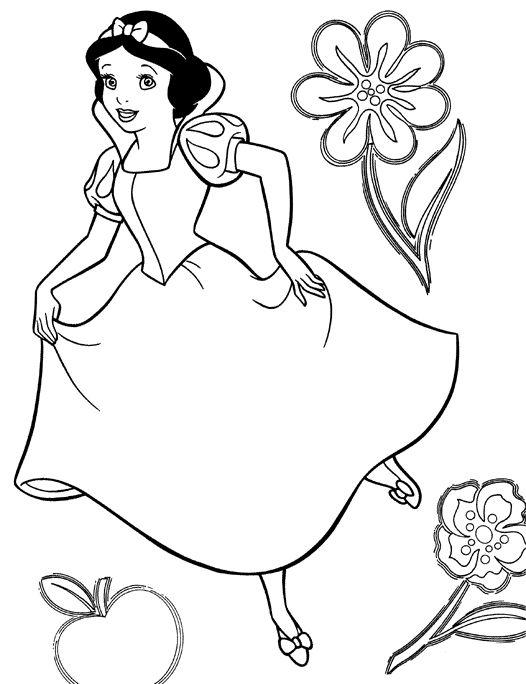 branca princesa Branca de Neve Melhores Desenhos para Colorir: Anões e Lindo Príncipe