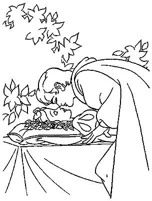 colorir princesa e principe Branca de Neve Melhores Desenhos para Colorir: Anões e Lindo Príncipe