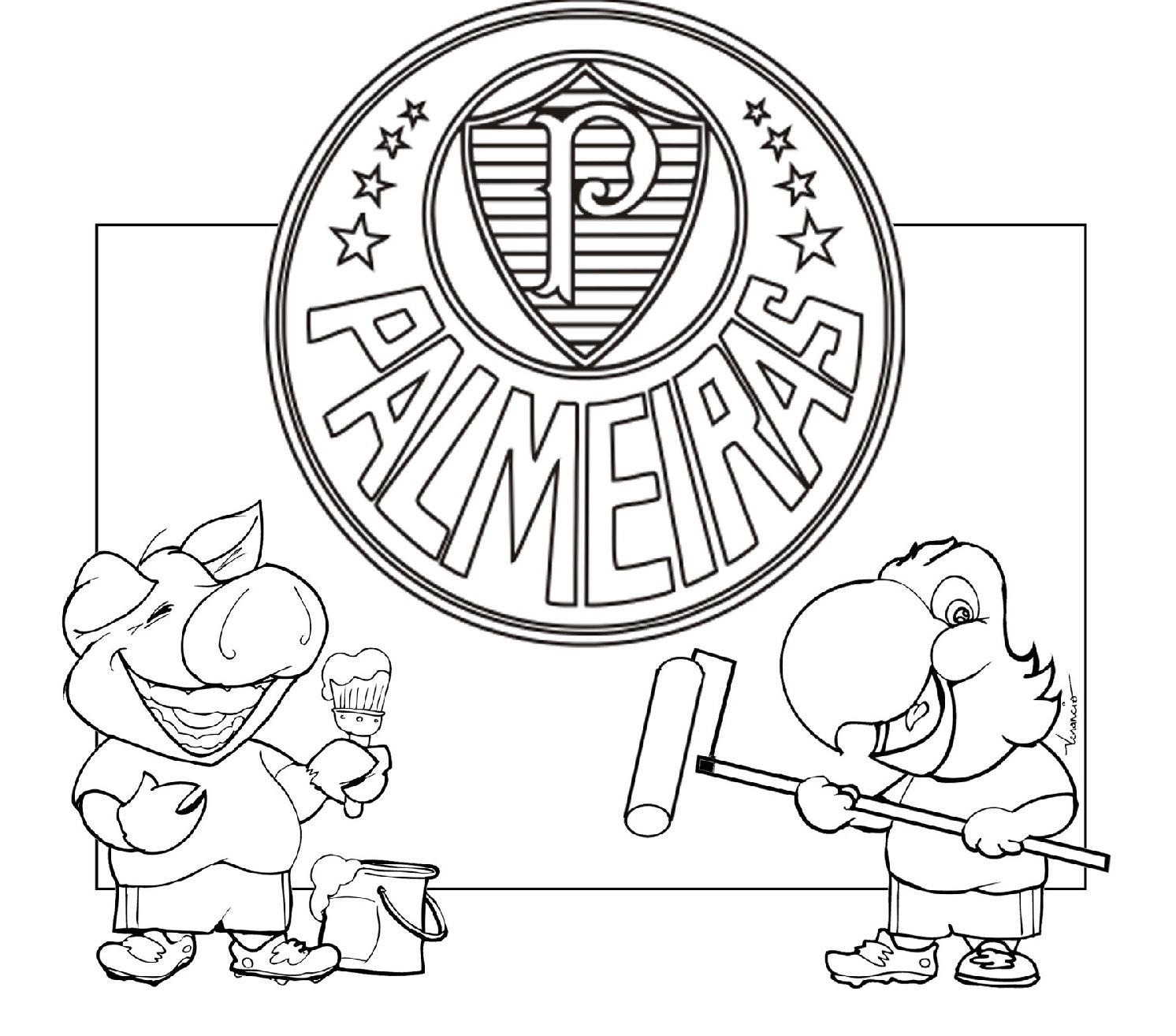 Desenhos Para Colorir De Times De Futebol Escudos Mascotes