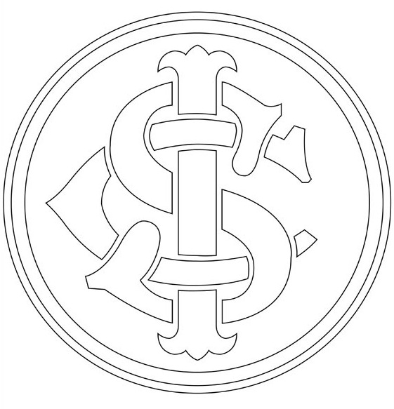 internacional escudo time pintar Desenhos para Colorir de Times de Futebol: Escudos, Mascotes, Imprimir