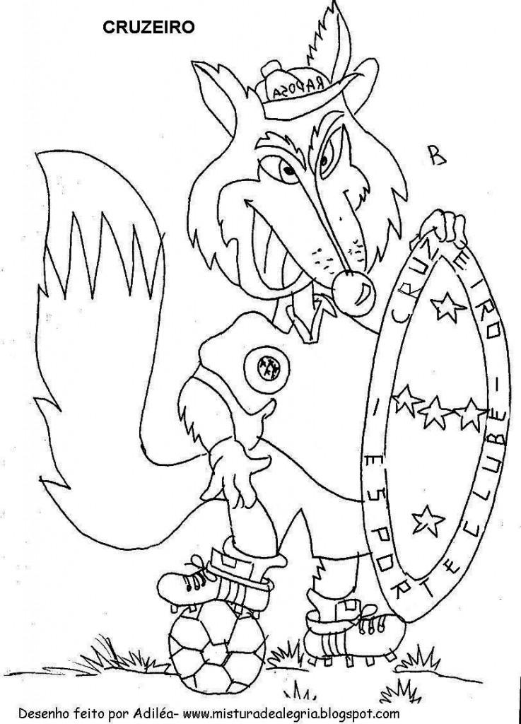 mascote do cruzeiro para colorir 737x1024 Desenhos para Colorir de Times de Futebol: Escudos, Mascotes, Imprimir