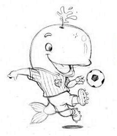 mascote santos colorir 2 Desenhos para Colorir de Times de Futebol: Escudos, Mascotes, Imprimir
