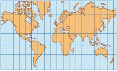 mercator projecao Tipos de Projeção Cartográfica: Conforme, Equivalente e Equidistante