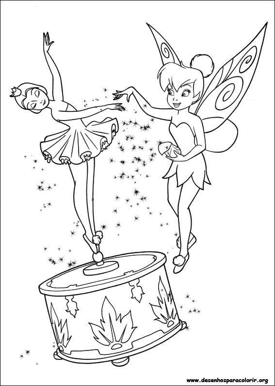 sininho e bailarina Desenhos da Sininho para Colorir   Melhores Imagens, Imprimir e Pintar
