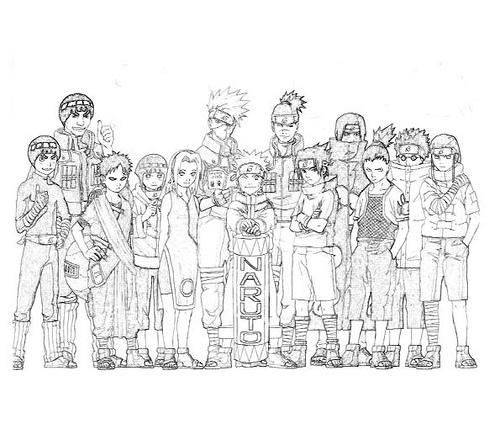 Desenhos para Colorir do Naruto - Sakura, Kakashi e mais para Imprimir