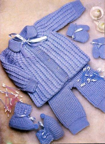 Enxoval de Bebê Feito a Mão em Crochê e Trico - Confira Modelos 2313bbd06f6