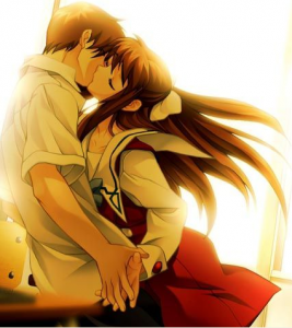 anime kiss girl 267x300 anime kiss girl