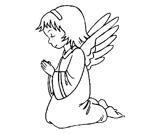 Anjos     Desenhos Para Colorir