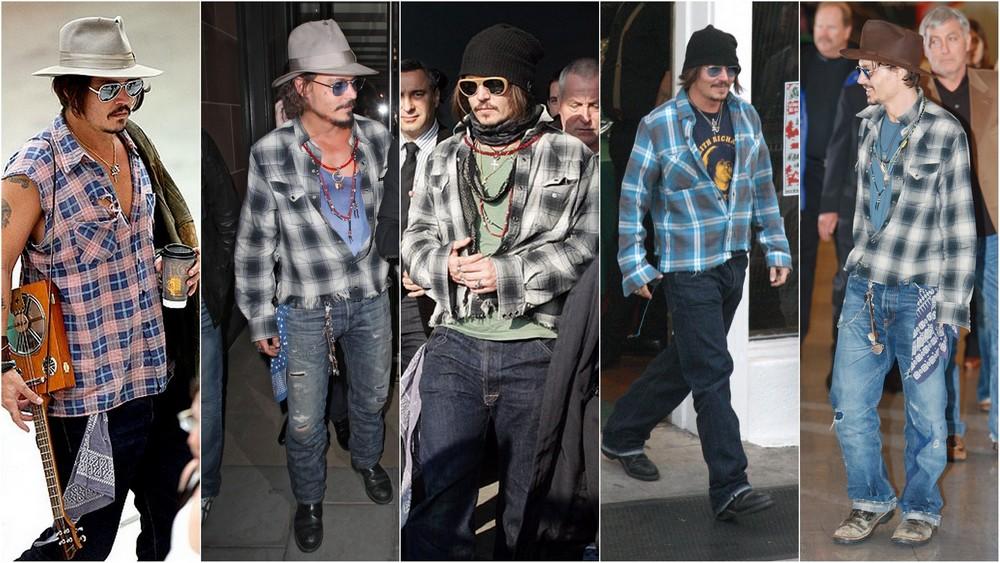 camisas xadres johnny depp Moda do Estilo Rock nRoll: Roupas, Sapatos e Acessórios Incríveis