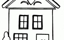Desenhos para Colorir de Casas: Lindos Modelos para Imprimir e Pintar
