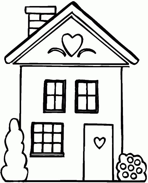 Casa1 Desenhos Para Colorir De Casas  Lindos Modelos Para Imprimir E