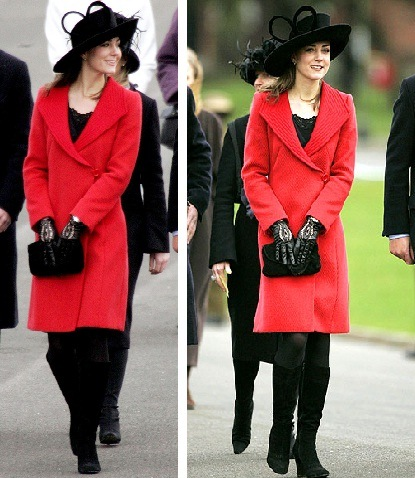 casaco vermelho kate Moda Kate Middleton Casacos: Lindos Modelos da Duqueza de Cambridge