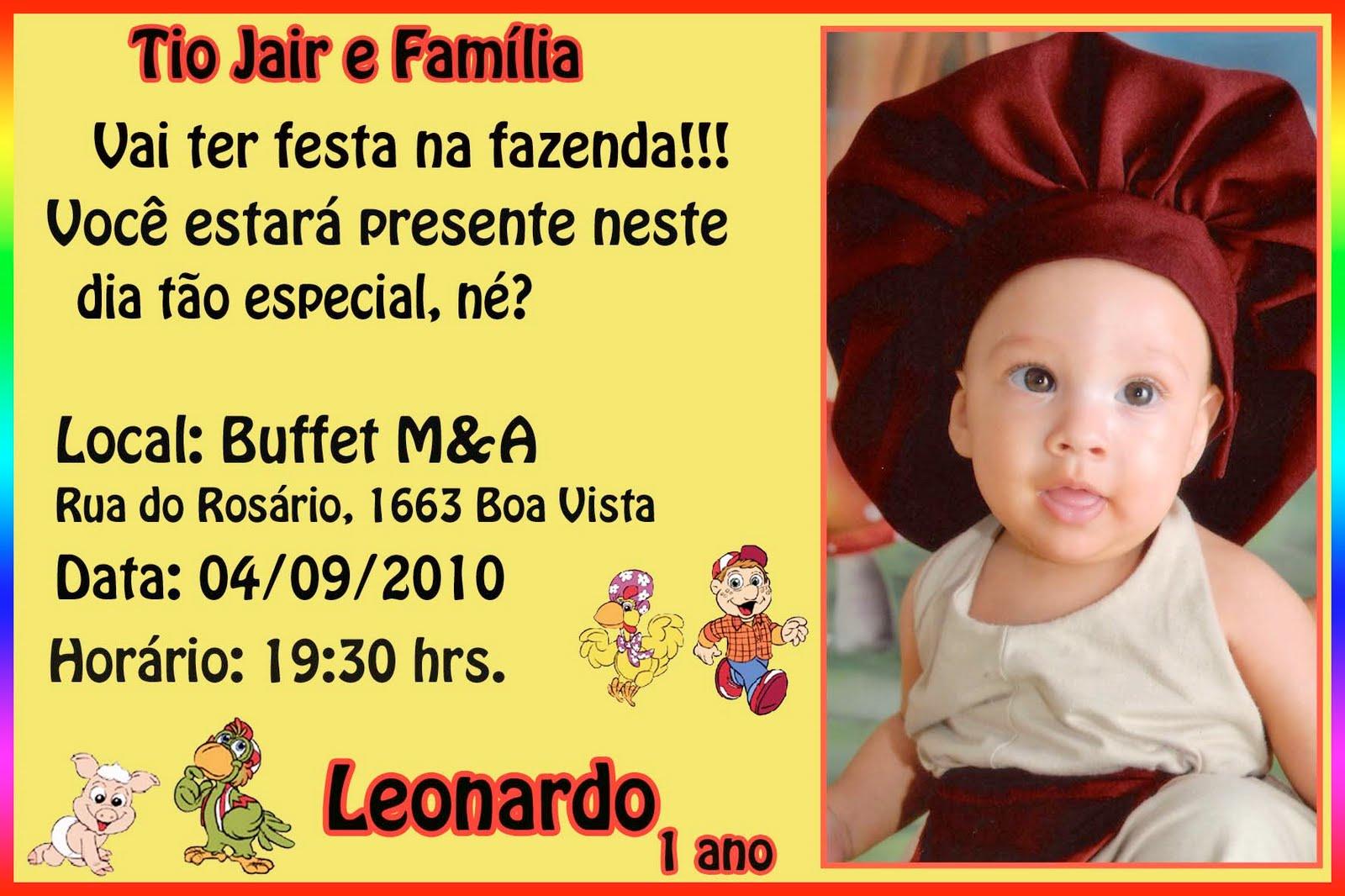 Convite Aniversario 1 Ano Menino Convites De Anivers  Rio De 1 Ano