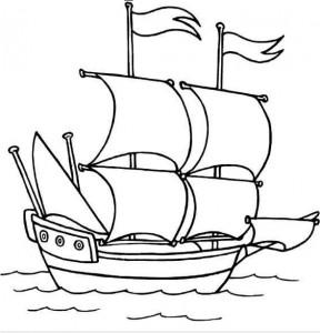 desenho de navio para colorir 2 288x300 desenho de navio para colorir 2