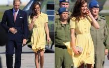 Kate Middleton Mostra Demais com Vestido Amarelo no Canadá, Fotos