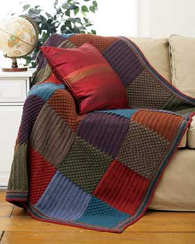 Easy Knitting Patterns For Throw Rugs : Modelos de Mantas para Sofa - Decore sua Sala com o que Esta na Moda