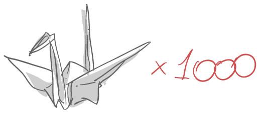 mil tsurus Como Fazer Tsuru?   Vídeo e Passo a passo para um Origami Incrível