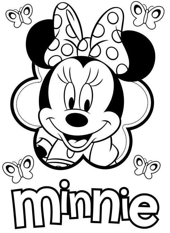 Desenhos Para Colorir Da Minnie Mouse Para Imprimir E Pintar