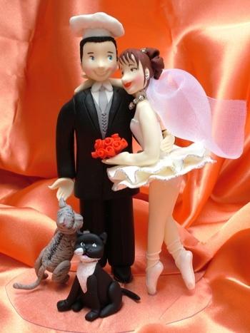 noivo de bolo de casamento bailarina Noivos de Biscuit, Bolo de Casamento: Fotos de Noivinhos Engraçados