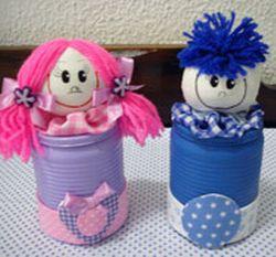 Lembranças artesanal para o Dia das Crianças latinhas Lembranças artesanal para o Dia das Crianças latinhas
