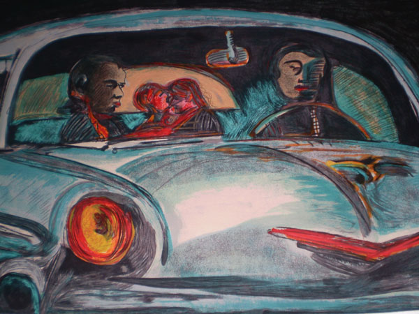 Rubens Gerchman carro 1 Arte de Rubens Gerchman Exposta no Domingão do Faustão