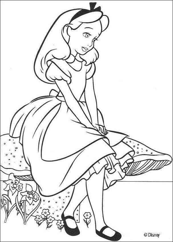 alice pintar Desenhos para Colorir de Meninas: Melhores Imagens, Imprimir e Pintar